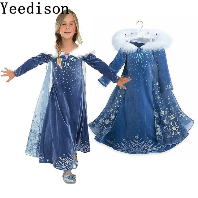 077dbcf84c3 US $20.53 20% OFF|2018 Ice And Snow Witch From Nepal Girl Elsa Anna  Princess Dress Child Full Can vestidos dresses moana de festa -in Dresses  from ...