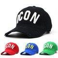 100% algodón hombres de la marca de lujo cap dsq icono dsq2 gorra de deportes al aire libre para hombre casuales sombreros snapback ajustable gorra de visera sombreros