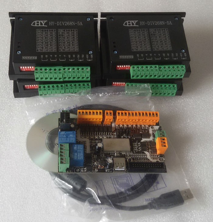 KIT de CNC USB avec 4 axes TB6600 5A, avec licence d'usine usb CNC