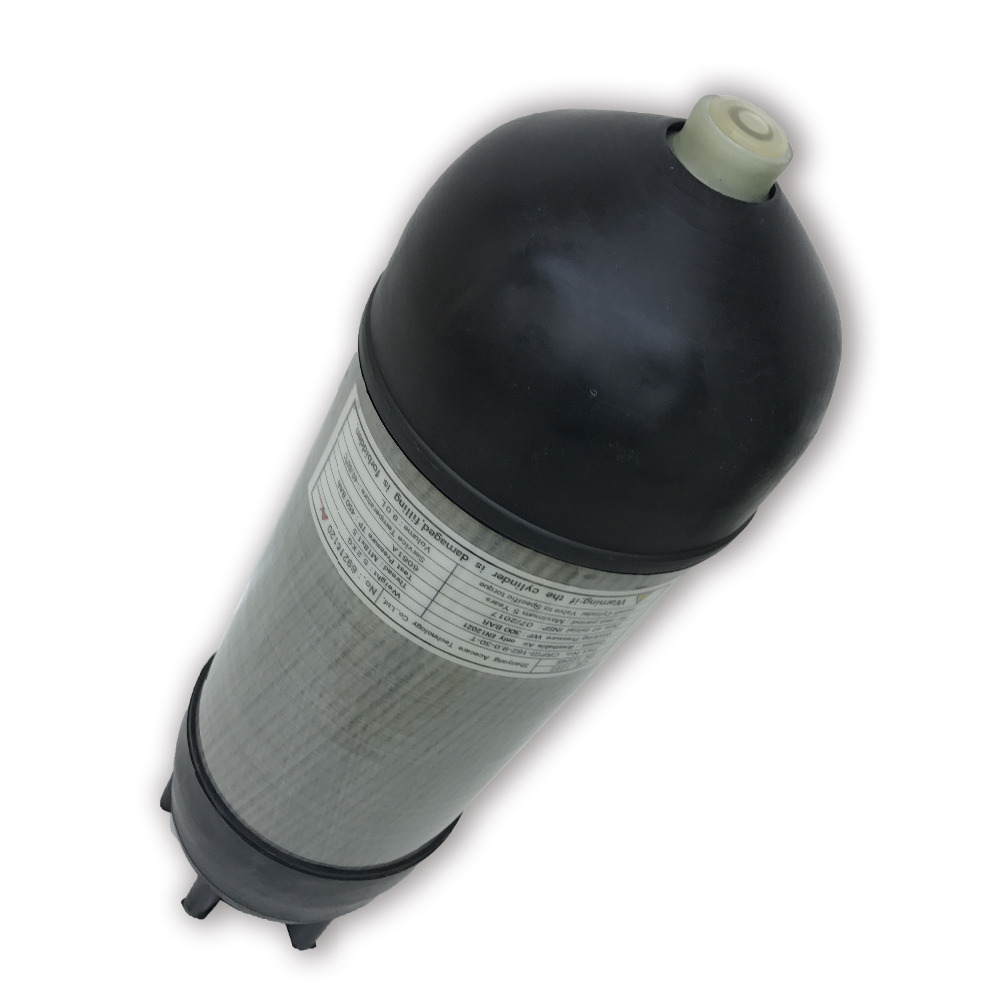 AC10991 Paintball Accessories Hpa Tank 4500psi Airforce Pcp Condor Gas Cylinder Carbon Fiber M18*1.5 With Cylinder Rubber Cover