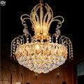 Золотой круговой модный простой европейский ресторанный светильник для спальни Роскошная гостиная столовая освещение потолочные светиль...