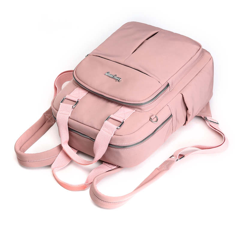 2020 VIP Fashion Multi-pocket Ladies Backpacks Large Capacity Women Backpacks Famous Brand Solid School Bag For Teeanger Girls 5