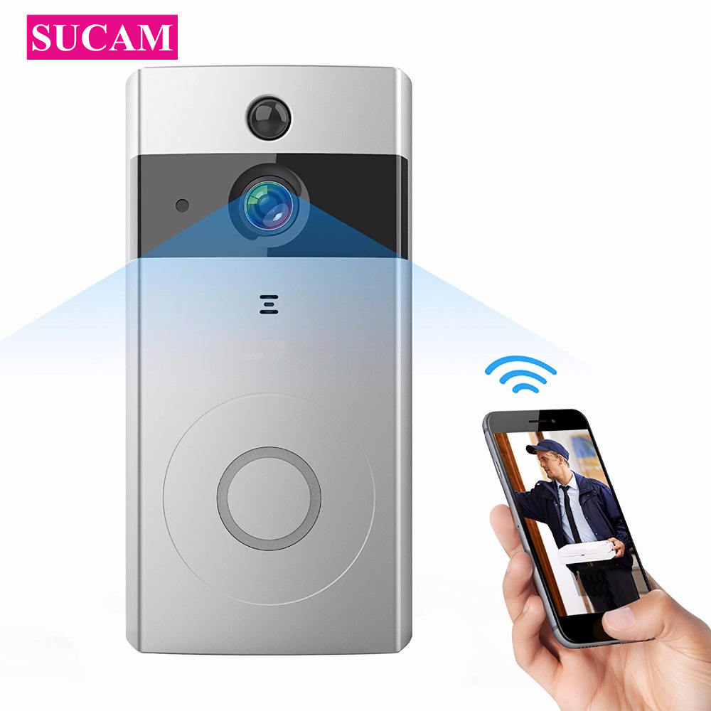 SUCAM HD 720P Mini Wifi Doorbell Camera Two Way Audio Night Vision Wireless Bell IP Camera Motion Alarm Easy to Install цена 2017