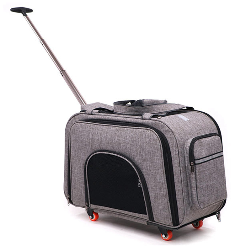 Ev ve Bahçe'ten Köpek Taşıyıcıları'de 10 KG Pet Arabası Kolu Genişletme Kutusu Kedi Köpek Dışarı Çıkmak Taşıma Çekme Kutup Çanta Çok pet El düzenlenen Seyahat Arabası Taşınabilir Evcil Hayvan'da  Grup 1