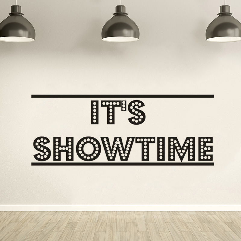 It's Showtime Poster Movie Wall Decal Cinema Theater Decoration Film Strip Tape Wall Stickers Cinema Corner Wallpaper Art AZ347 image