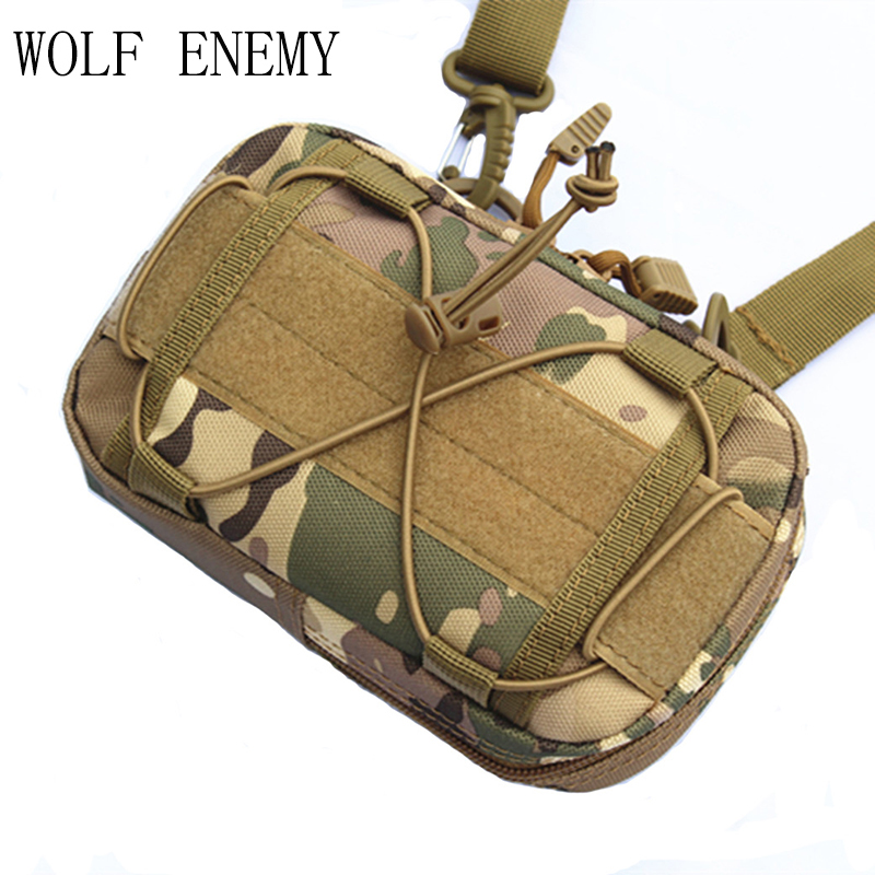 Universal Outdoor Military Tactical Bag Pouch Molle Waist Bag Fanny Pack 1000D Waterproof Phone Money Cases Outdoor Bags