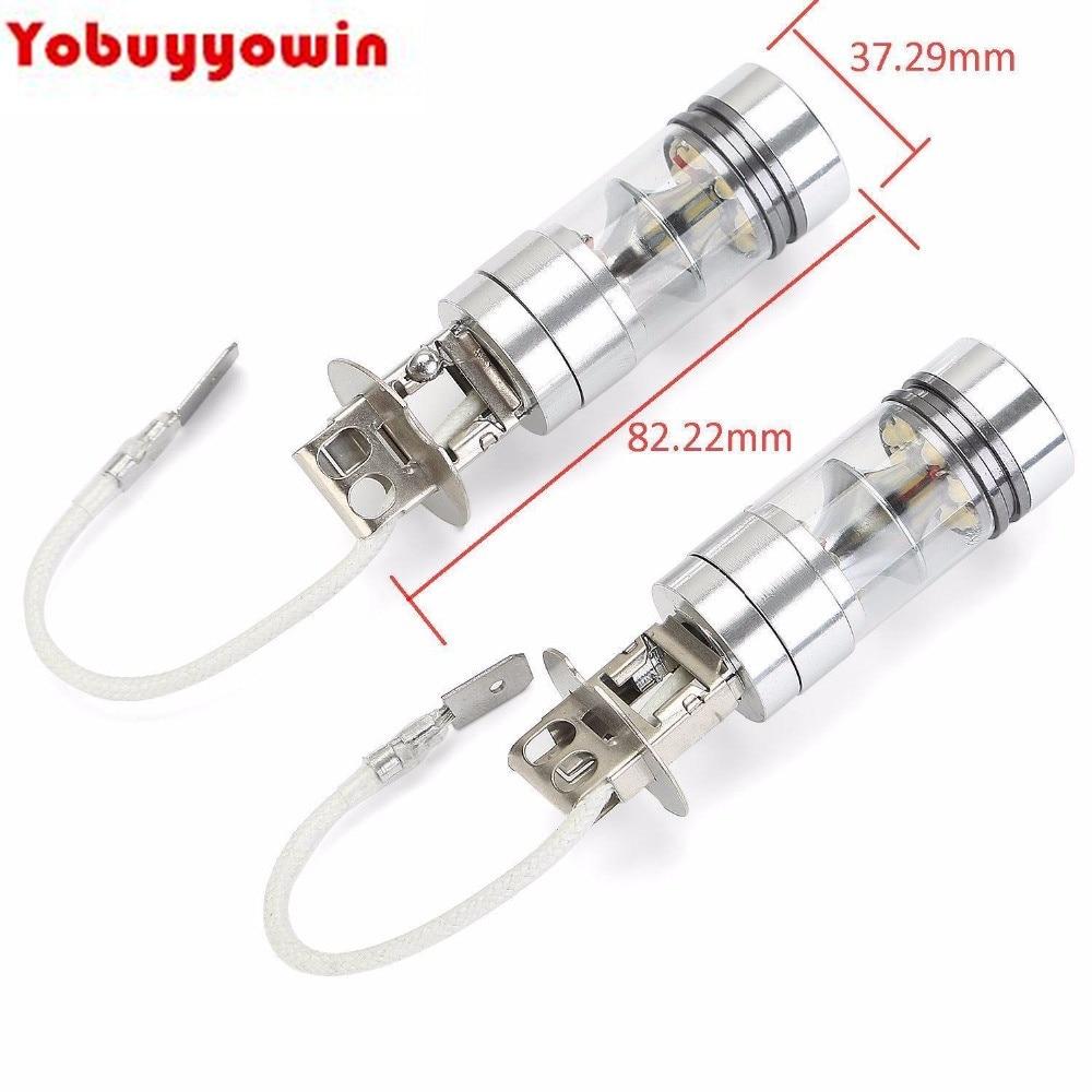 Pack of 2 H3 Fog Light bulb 6000K-7000k White High Power 100W LED Seoul Car Daytime Running Light Lamp (H1 Available) 5 pack of disposable lighters pack of 3 sets