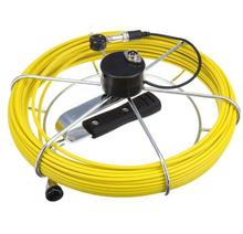 7D1 Sewer Drain Pipe Video Inspection Camera 20m Fiberglass Push Cable Reel Stainless Steel Wheel Fits 7D1 23mm size camera