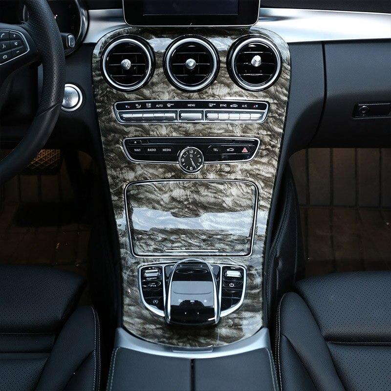 Marbre Couleur Style ABS En Plastique Center Couverture Pour Mercedes Benz Classe C W205 15-18 Pour Mercedes-benz GLC-Classe X253 2016-18