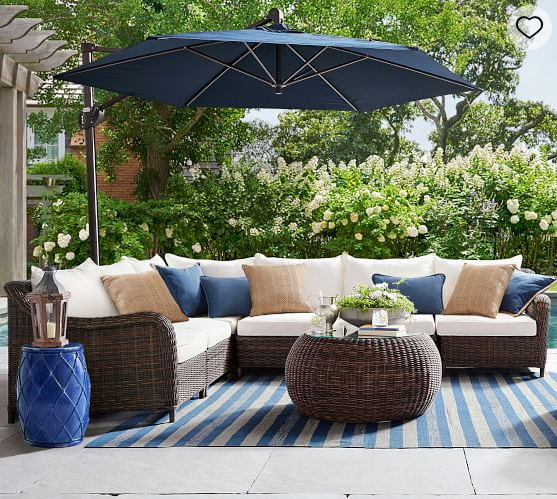 US $607.0  Hot sale quality outdoor patio furniture wicker sofa sets large  sectional sofa-in Garden Sets from Furniture on AliExpress