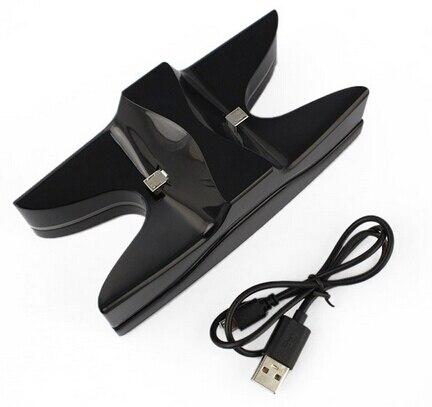 НЛО синий СВЕТОДИОД Двойной контроллер USB Зарядное ЗАРЯДНОЕ Устройство подставка для Зарядки Док-Станции для Контроллер Playstation 4 Ps4