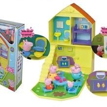 Подлинный Свинка Пеппа детская игрушка Джордж Пеппа семейный дом с Пеппой Джордж папа мама Дети День рождения Рождество игрушка подарок Горячая
