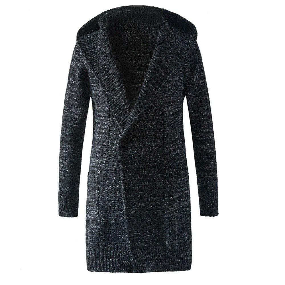 Avec Cap Chandail Manteau Hommes Nouveauté De Mode Pull Tops Fitness Plus Taille Mens Chandails 2019 Harajuku Cardigan Mâle Vêtements