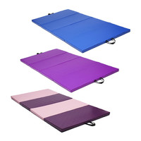 3 Color Yoga Mats 240x120x5cm Folding Soft Play Gym Sport Health Mat Large Non Slip Fitness Exercise Pad Yoga Mats