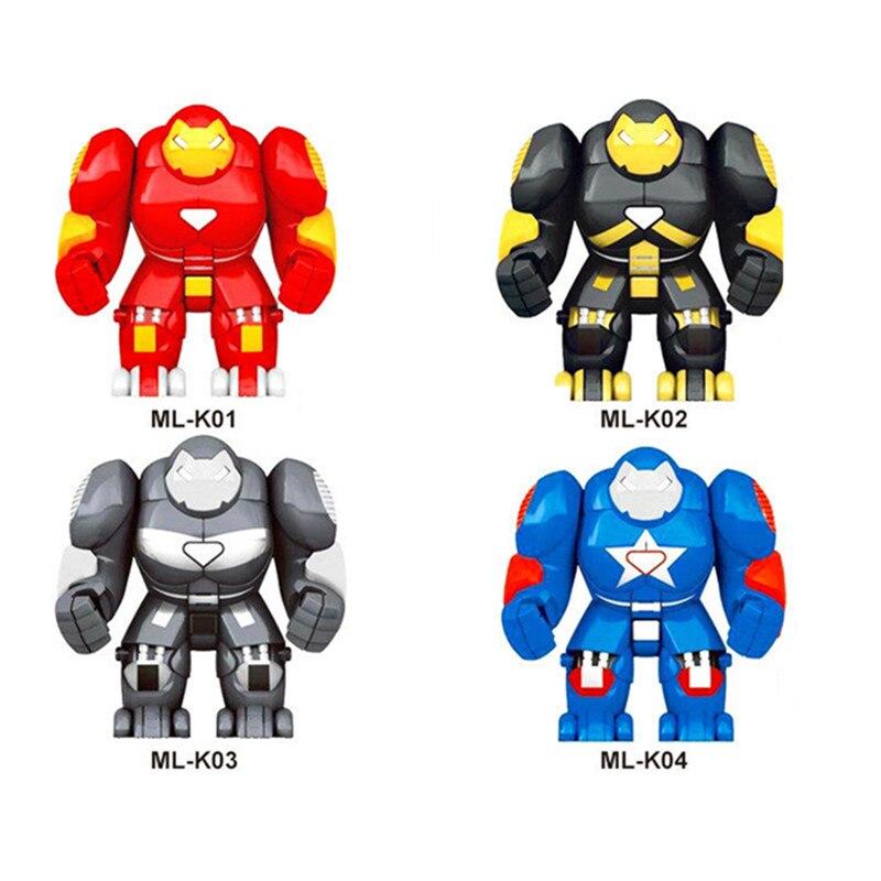 Única Venda Super Heróis Vingadores Homem De Ferro Ironman Armadura Guerreiro Soldado Figuras Building Block Tijolo Brinquedos Para Crianças XD268