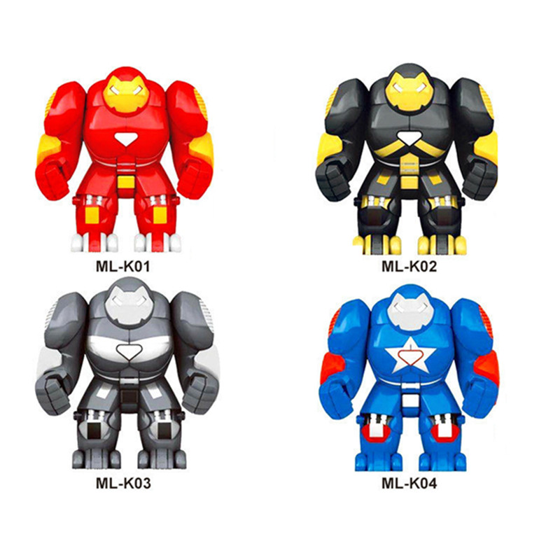 Single Sale Super Heroes Iron Man Ironman Avengers Armor Warrior Soldier Figures Building Block Brick Toys For Children XD268