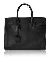 Popular Bag Luxury Classic Design Genuine Leather Tote Padlock Fashion Handbags
