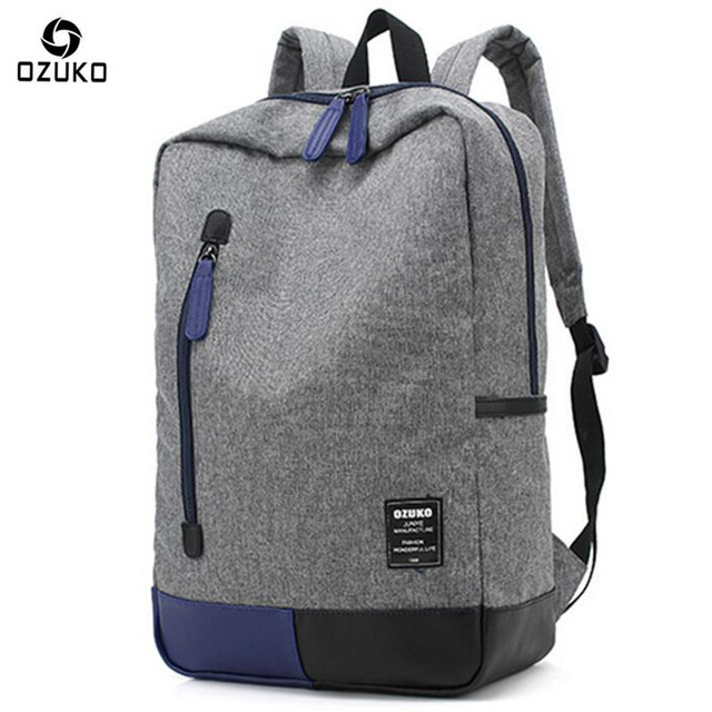 67c00ba6514c US $18.46 40% OFF|Ozuko Men Backpack Fashion Casual Student School Bags For  Teenagers Designer Laptop Backpack Men 2018 Brand Travel Canvas Bag-in ...
