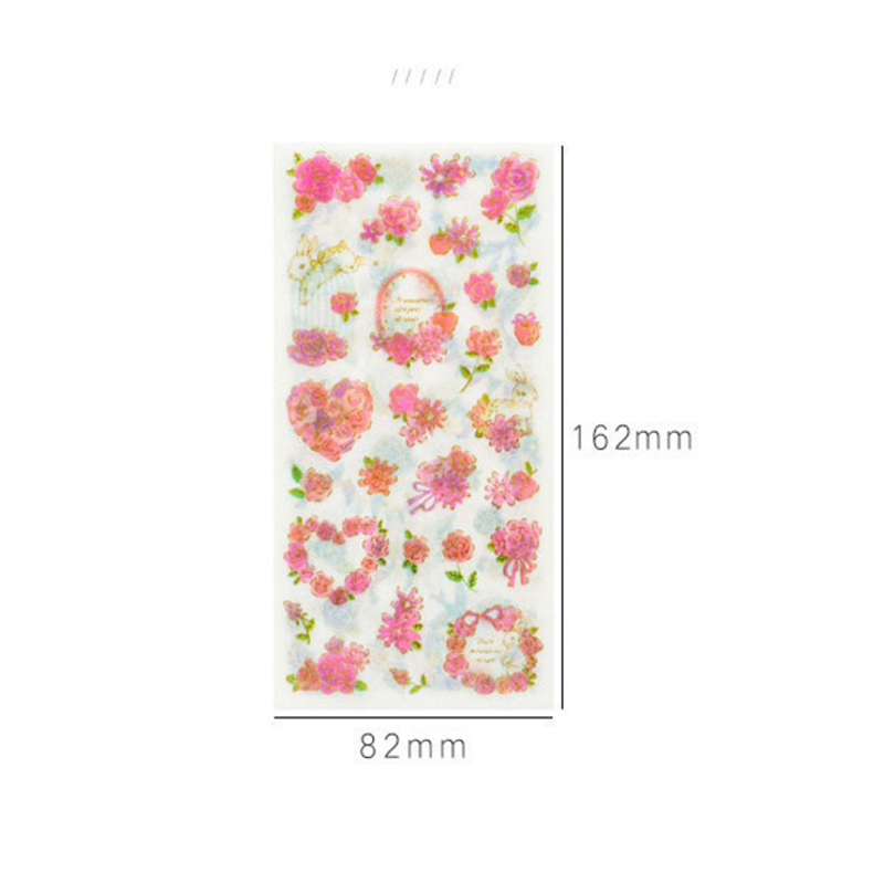 Купить с кэшбэком 15packs/lot New Cute Hundred Flowers Cat DIY Diary Decorative Scrapbooking Stickers Label Wholesale