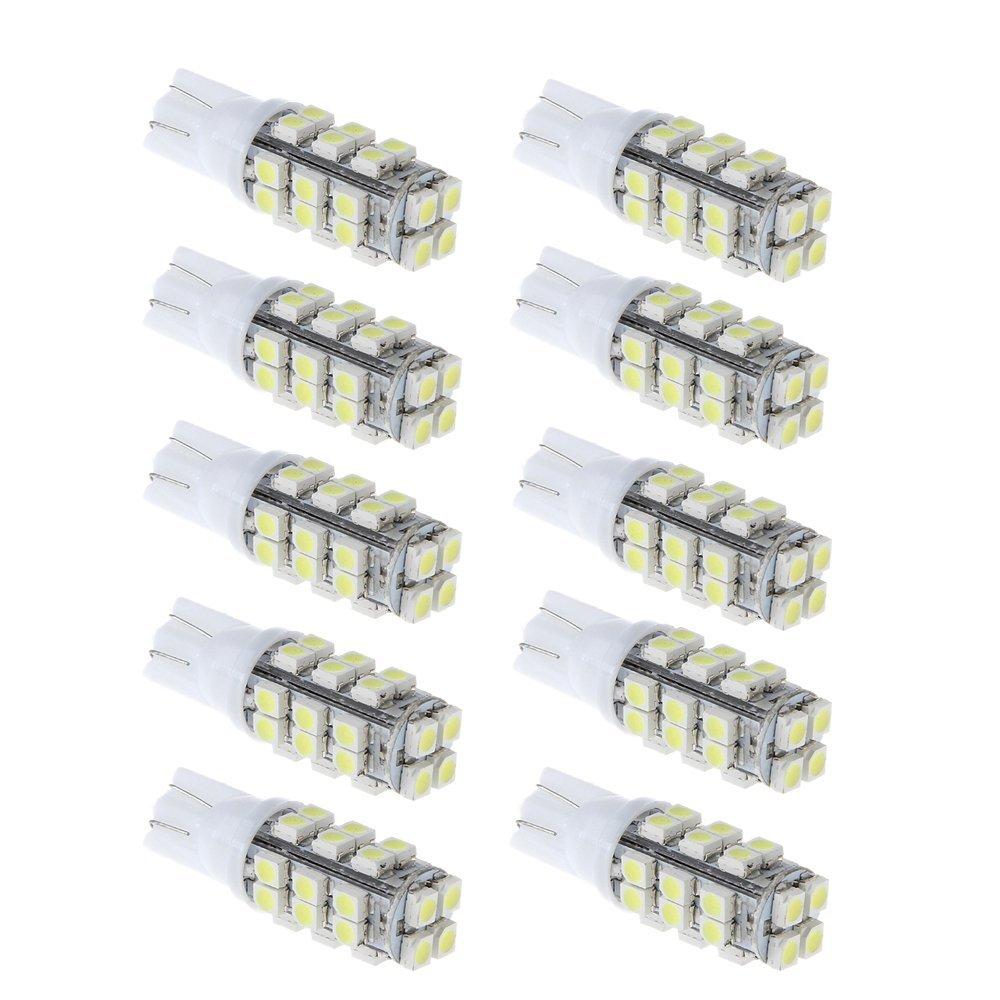 BULK PRICE Kit 50 Lampadas T10 / W5w - Pingo 28 Led - Super Branco Placa Farolet