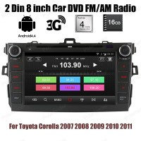 2 Din 8 Inch Car DVD For T Oyota C Orolla 2007 2008 2009 2010 2011