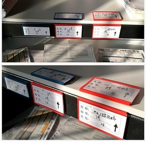 Image 4 - Multi Scelta di Plastica Magazzino di Stoccaggio Scaffale Elemento Etichetta Tag Tab Segno Titolari di Carta di Nome da Morbido Forte Magnetico su posteriore 20 pcs