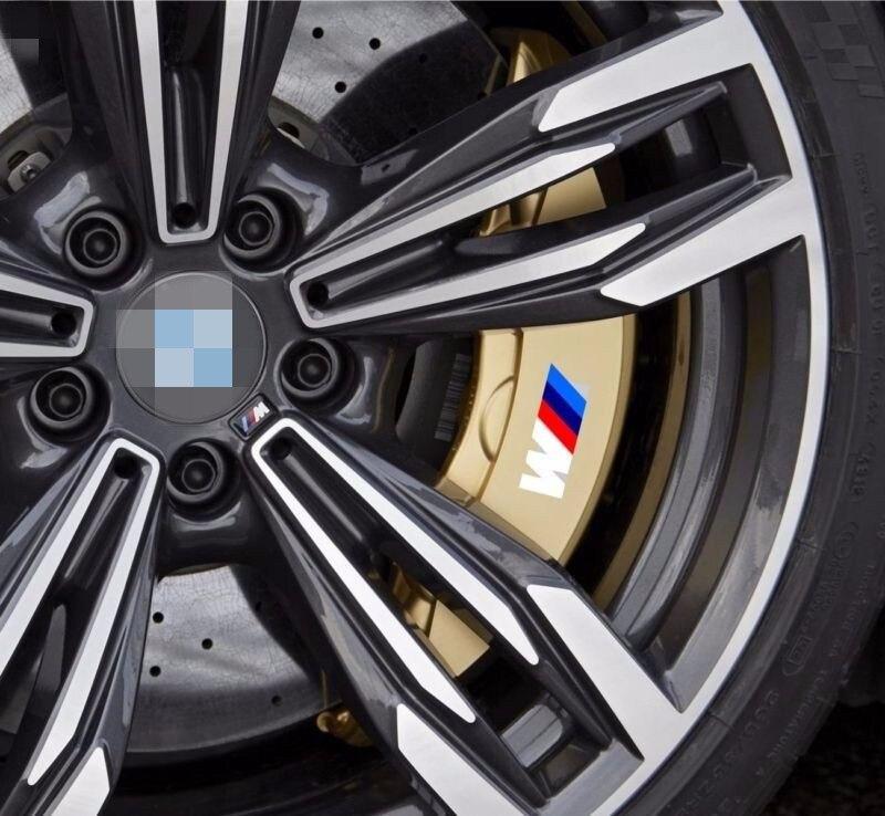 8x M Power Caliper Brake Die Cut Decal Sticker Vinyl Self Adhesive Emblem for BMW F10 F20 F30 E60 E70 E71 E90 E91