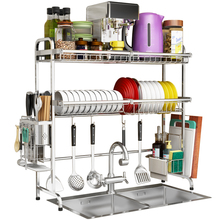 304 Stainless Steel Kitchen Shelf Rack Drying Drain Storage Holders Plate Dish Cutlery Cup Organizer