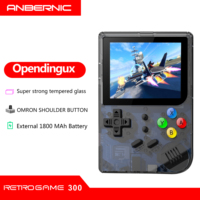 Portable New RG 300 Video Games Consola 3000 RETRO GAMES PS1/CPS1/FC RETRO GAME 300 Free 32G TF Card Tony system Handheld Retro