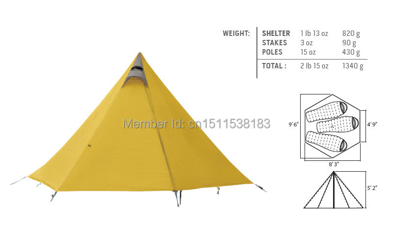 Shangri La 3 Tent GoLite shelter Shelter only-in Tents from Sports u0026 Entertainment on Aliexpress.com | Alibaba Group  sc 1 st  AliExpress.com & Shangri La 3 Tent GoLite shelter Shelter only-in Tents from Sports ...