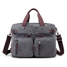 Männer qualität leinwand business schulter crossbody taschen männer messenger bags handtasche paket-einkaufstasche back pack laptop aktentasche