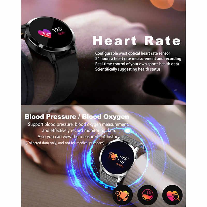 Смарт-часы для фитнеса для мужчин и женщин OLED экран монитор сердечного ритма кровяное давление педометр с сенсорным управлением здоровье Спортивные часы для Android IOS