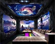 beibehang Thicken Window Dream Blue Sky Beautiful Classic Interior Decoration papel de parede 3d Wallpaper Theme 3D Background