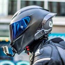 Carbonio Pieno di Viso Casco Moto Da Corsa del Casco di Motocross Off Road Kask Casco De Moto Motociclista DOT Approvato