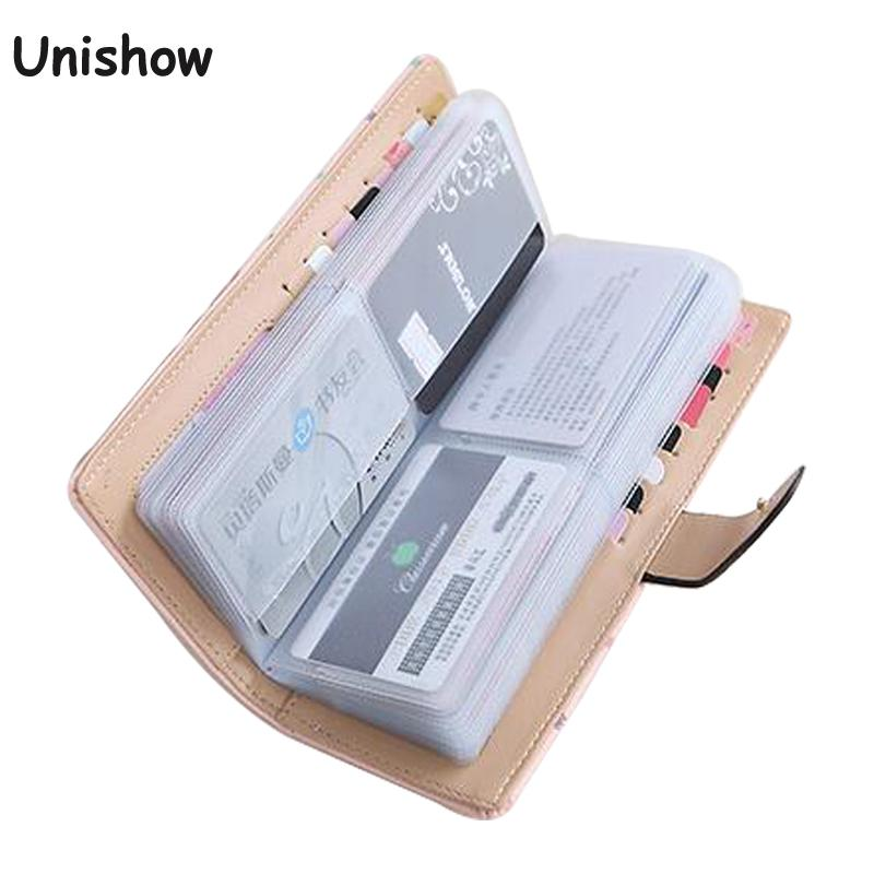 2018 women Card credit wallet two-folded buckle long design Card Holders lady's card bag wallet female Credit Card Holder цены онлайн