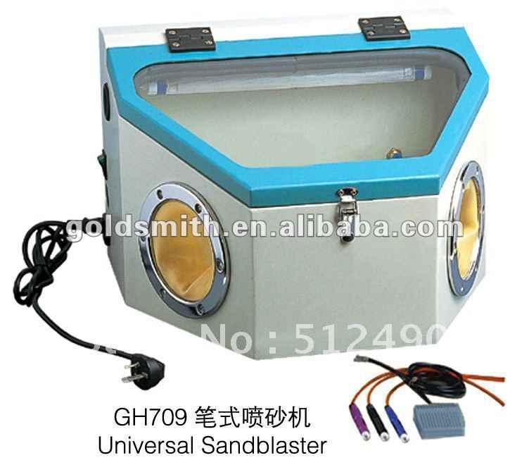 مختبر الأسنان الرمال الرمال الرمال الناسف machineglass blasterjewelry الناسف تشمل: 3 Pen1 الإلكترونية القدم Control2 الصاج