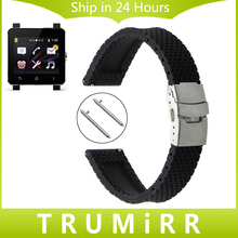 24mm de caucho de silicona correa de liberación rápida + herramientas para sony smartwatch 2 sw2 traverse suunto correa de reloj pulsera de la pulsera