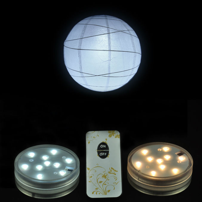 4 pieces/lot 3AAA Battery Operated Remote SUPER BRIGHT 10White/Warm White LED Paper Lantern Light For Wedding Party Event Decor