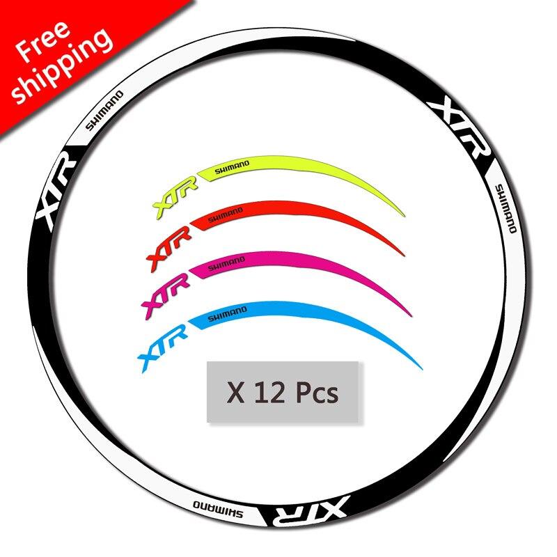 SHIMANO XTR Roue Jante Autocollants Pour VTT DH vtt Vélo Course Cyclisme remplacement réfléchissant stickers