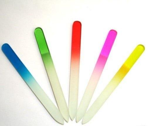 Стекло Пилочки для ногтей Прочный Кристалл Файла 5.5 дюймов 500 шт./лот