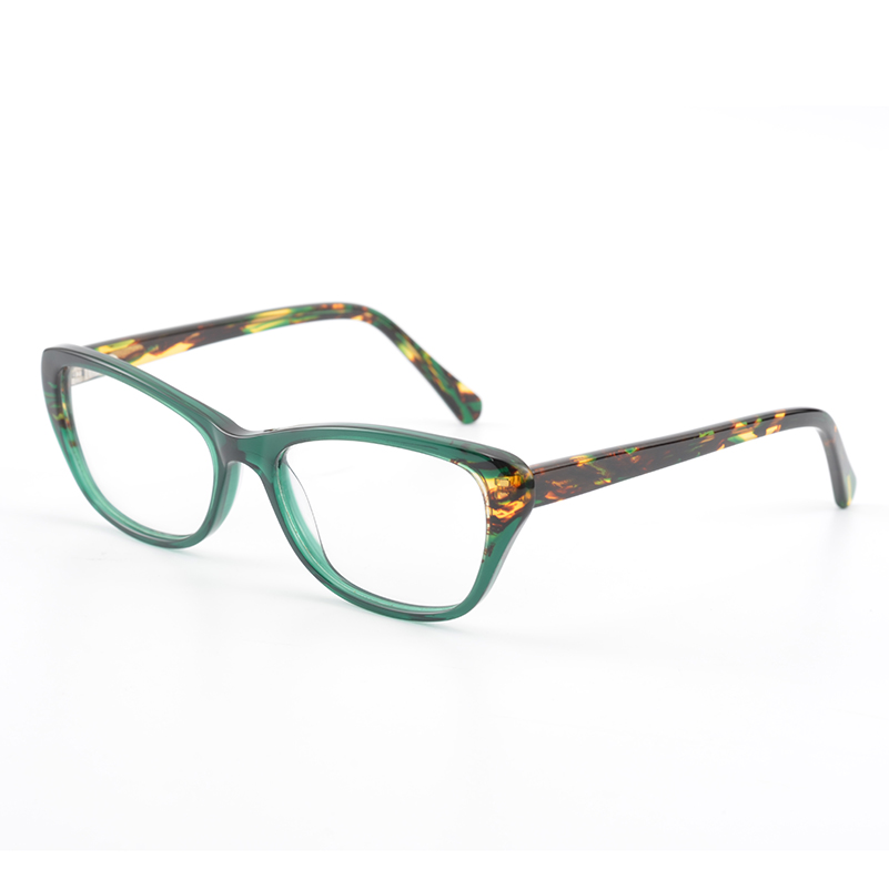 Elegante Damen Katze Augen Acetat Brillengestell Retro Frauen ...