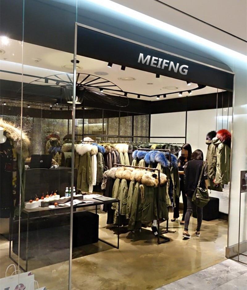 Высококачественное зимнее пальто с мехом в стиле милитари, парка капюшон, теплая Женская парка с меховым капюшоном
