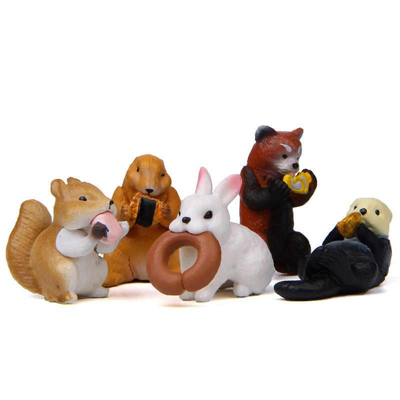 人工森林動物食べるモデルアクションフィギュアミニチュア置物家庭菜園ドールハウスの装飾 DIY アクセサリー玩具ギフト