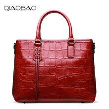 QIAOBAO Designer Alligator Taschen Frauen Echtem Leder Handtaschen Spanische Marke Luxus Damen Handtaschen Mode Totes Bolsos