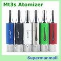 Dual coils EcTank MT3S cigarrillo electrónico atomizador cristal Pyrex clearomizer vaporizador ego evod e cigarrillo MT3S clearomizer