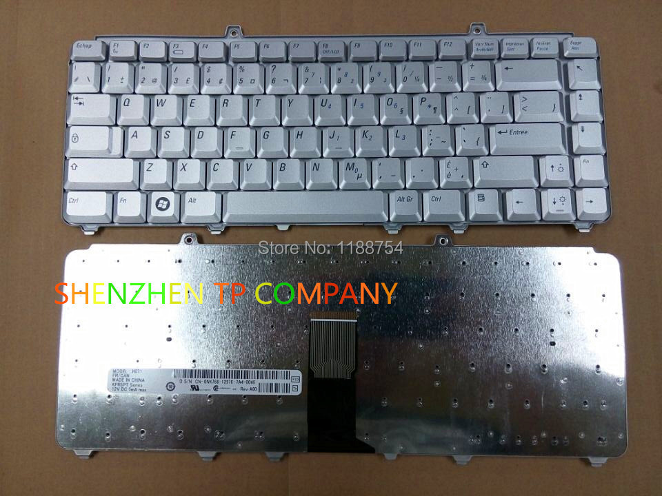 Brand New French keyboard For Dell inspiron 1400 1520 1521 1525 1526 Service FRENCH CANADIAN version SILVER