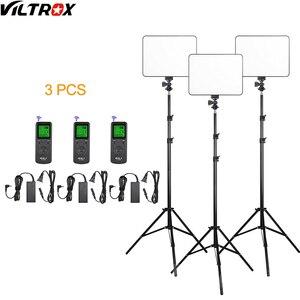 Image 1 - Viltrox VL 200 פרו אלחוטי מרחוק LED וידאו סטודיו אור מנורת Slim דו צבע Dimmable + AC מתאם + 2M אור stand עבור מצלמת וידאו