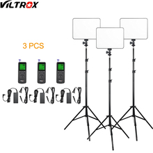 Viltrox VL 200 Pro kablosuz uzaktan LED Video stüdyo ışığı lamba ince bi renk dim + AC adaptörü + 2M işık standı kamera için