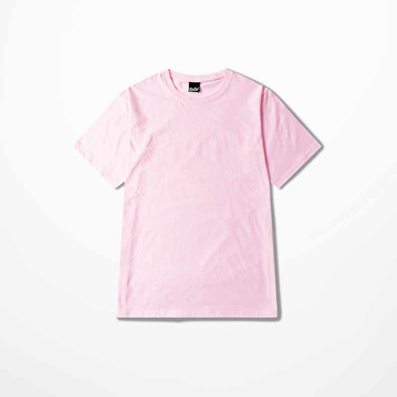 Hip Hop Skateboard High Street T-shirt Gelb Rosa T Shirt Slim Fit Männer Harajuku Vintage T-shirt Mode 25 Farbe T-Shirts männer