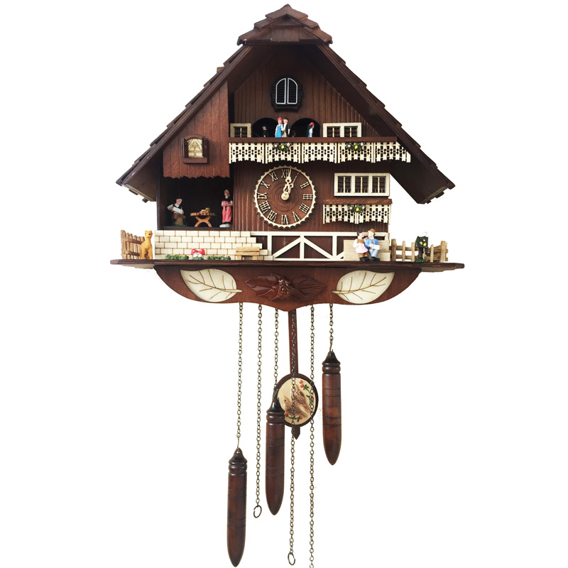 Forêt noire coucou horloge horloge murale salon calme bois coucou horloge créative grande 20 pouces